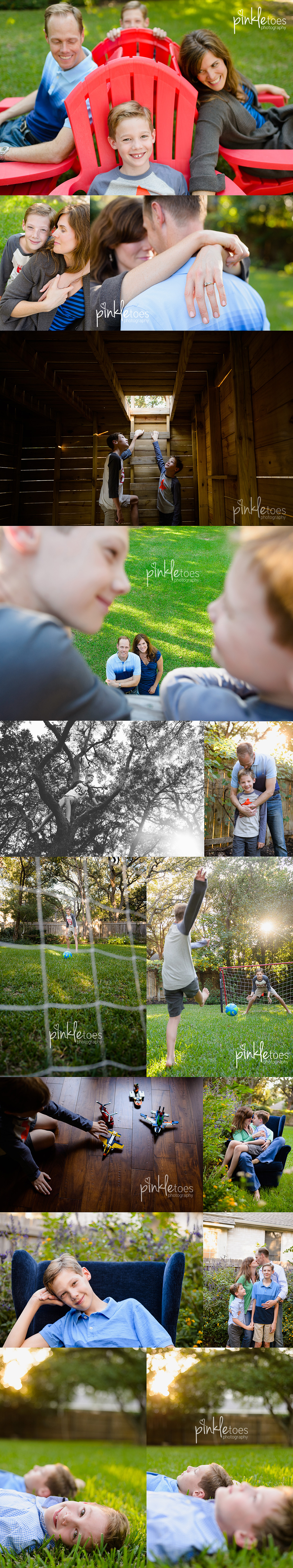 austin-family-photographer-photo-session-legos-treehouse-zipline-soccer-boys