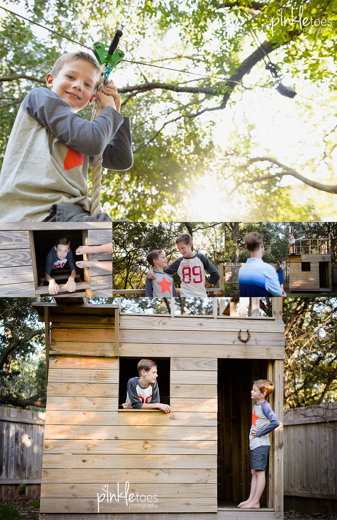 austin-treehouse-family-photographer-photo-session-legos-treehouse-zipline-soccer-boys
