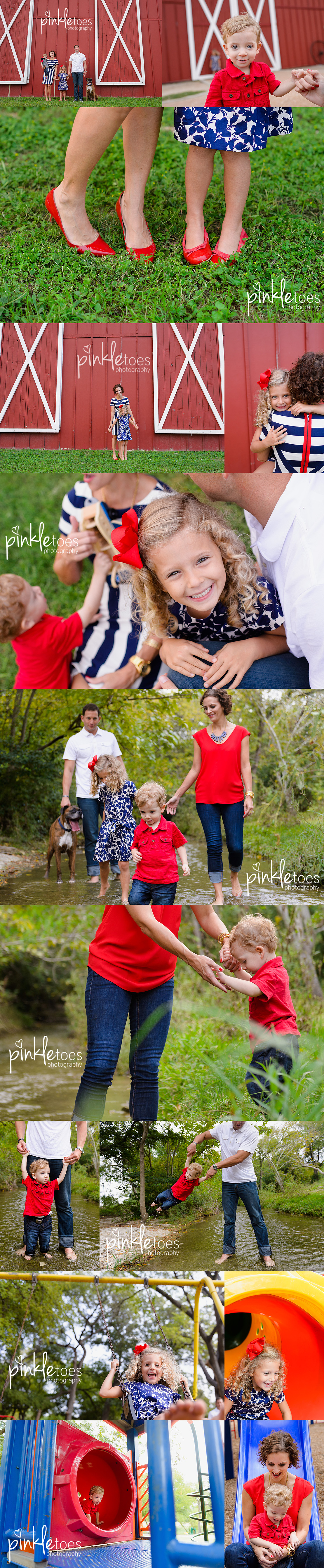 pinkle-toes-austin-childrens-photographer-modern-family-photo-session-playground-creek-red-barn-austin-texas