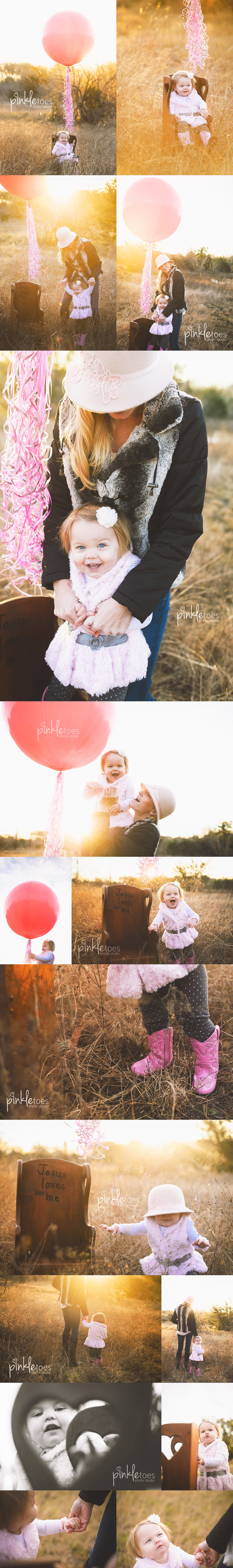 baby-girl-first-birthday-giant-pink-balloon-austin-outdoors-sunrise-photo-session