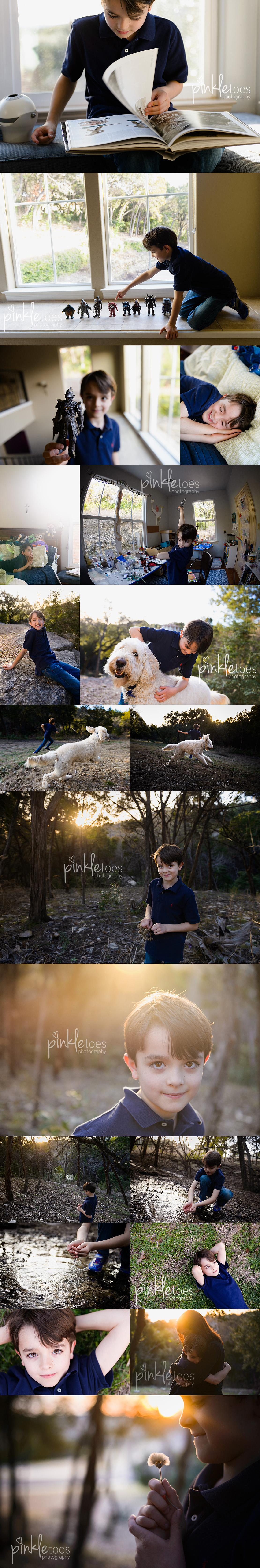 photo-session-austin-photographer-boy-scooter-dog-sunset-outdoors-creek-lifestyle-documentary-candid-photography