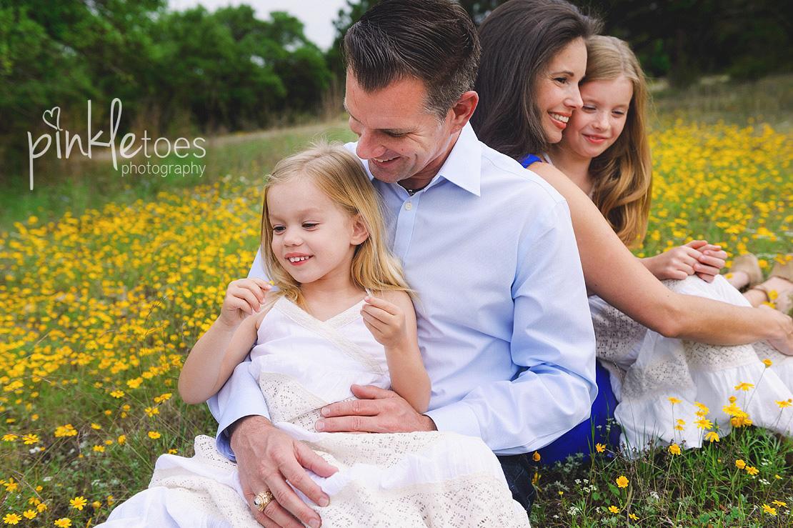 austin-family-classic-portraiture-girls-white-dresses-texas-wildflowers-stream-10