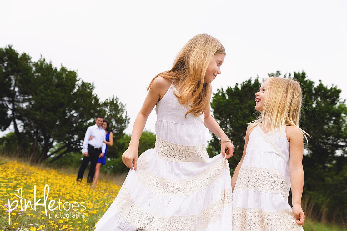 austin-family-classic-portraiture-girls-white-dresses-texas-wildflowers-stream-14