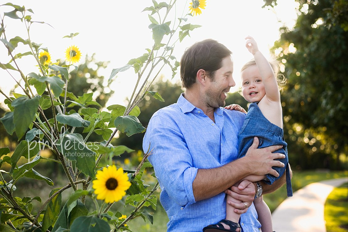 Sunflowers in a summertime sunset [austin baby photography] - Pinkle ...